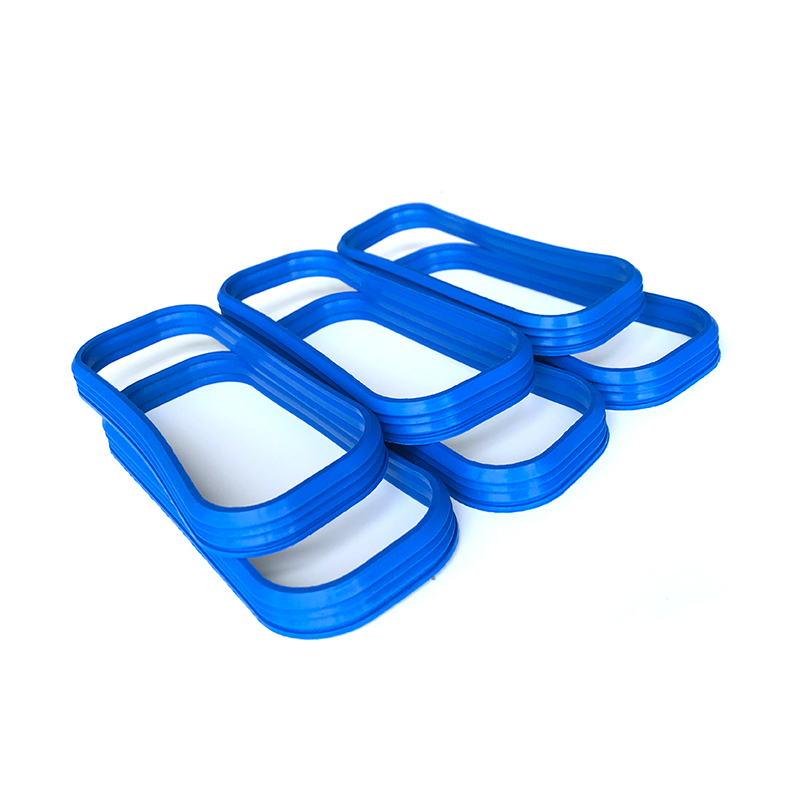 Rectangular corrugated serrated blue flame retardant Silicone gasket