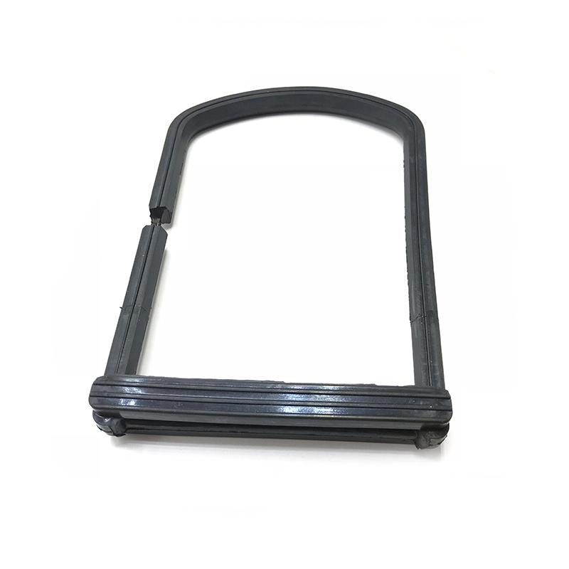 Knife gate valve use rubber adhesive to metal U ring gaket sealing
