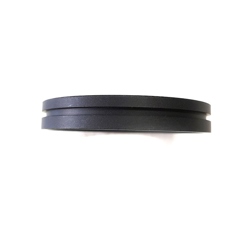 Flat gasket with groove